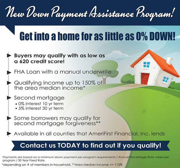 AmeriFirst Financial Down Payment Assistance Program