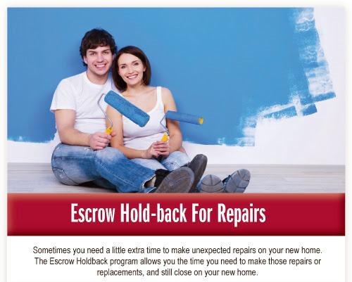 Repair Escrows for Kentucky USDA, FHA, VA, Fannie Mae Homeloans