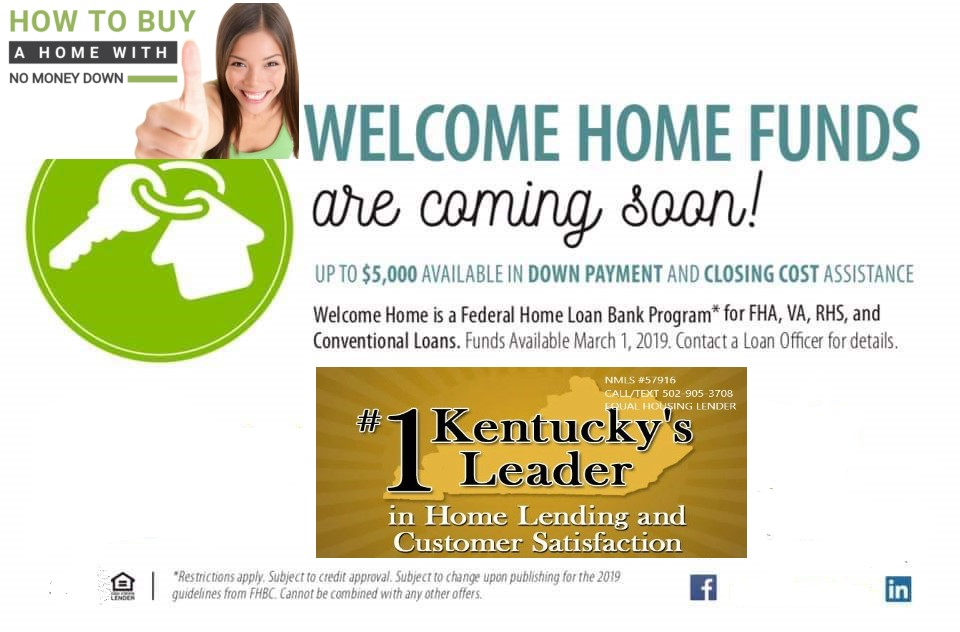 2019 Welcome Home Program for Kentucky Home Buyers.