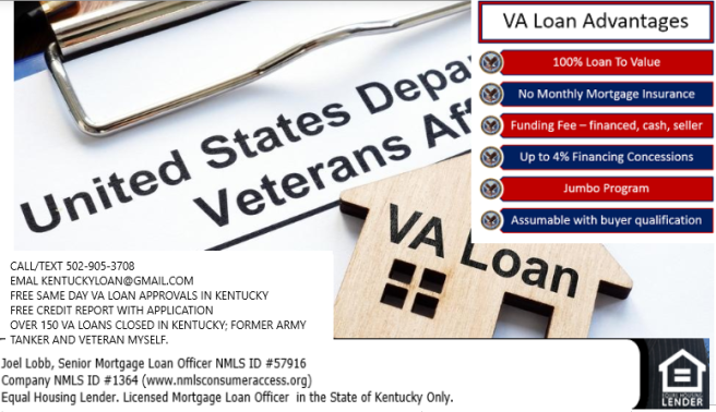 How can I get a VA Mortgage loan in Kentucky in 2019?