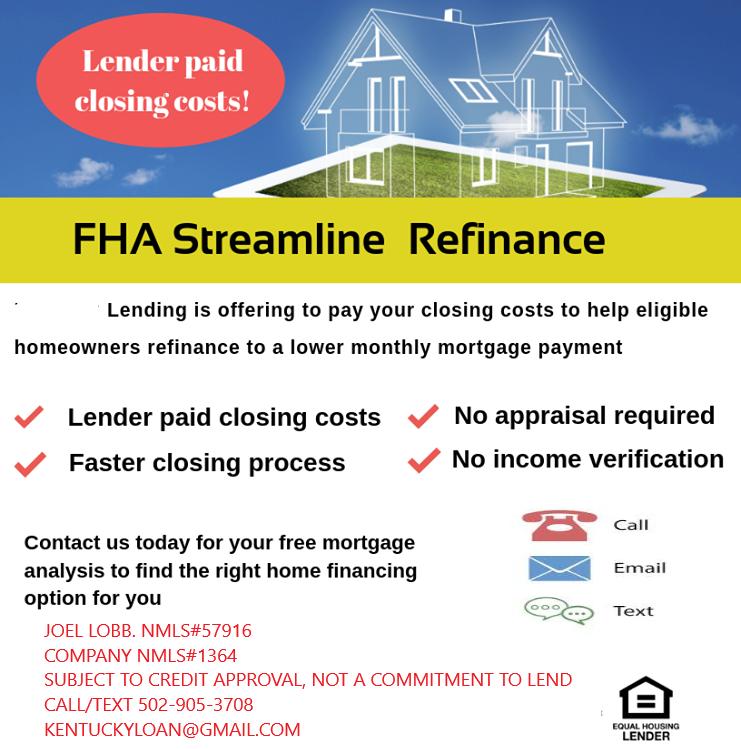 How to refinance a Kentucky FHA loan in Kentucky?